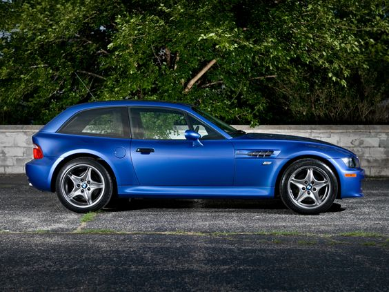 BMW M Coupe. The ultimate shooting brake and practical sports car. Built by enthusiastic German engineers, M series engine and room for dogs, shopping or bags.