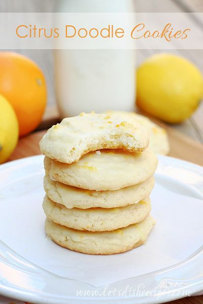 Citrus Doodle Cookies on MyRecipeMagic.com