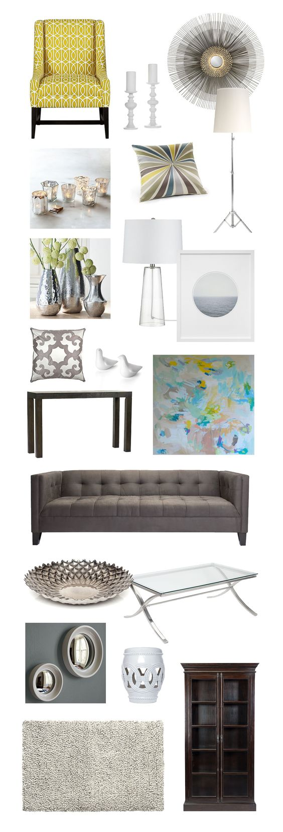 Modern glam living room pieces modern glam home decor for Glam modern living room