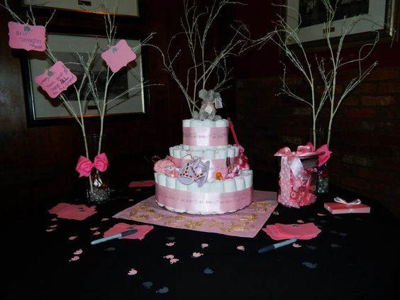 Diaper Cake on Display