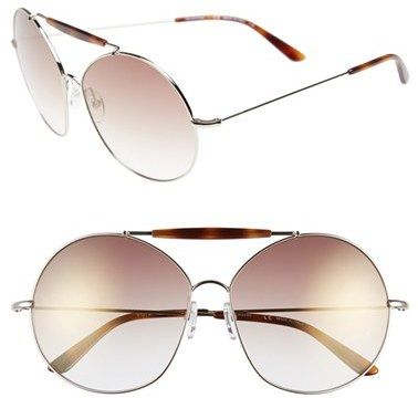 Valentino 'Runway' 62mm Aviator Sunglasses