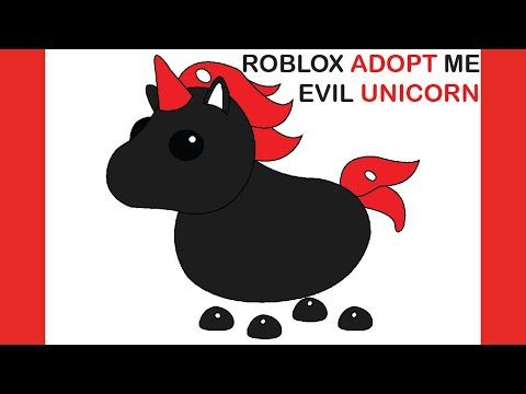 How To Draw Roblox Adopt Me Pet Drawings Youtube Pets Drawing Evil Unicorn Unicorn Drawing
