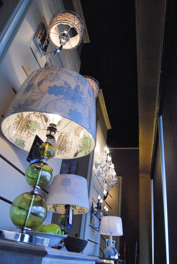 """""""Sharon Hill"""" table lamp from Dimond Lighting.  Now 50% off!  Sale price $69.97.  Small lamp to match is $44.97. LOVE the shades!"""