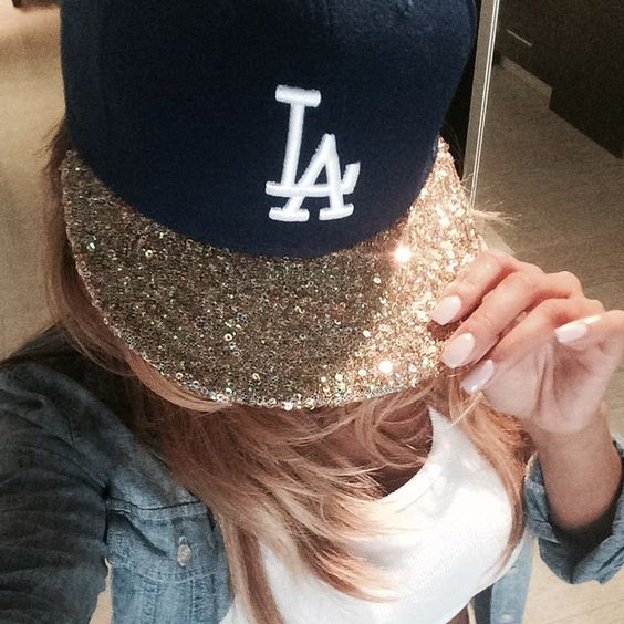 Sparkly Dodgers hat!