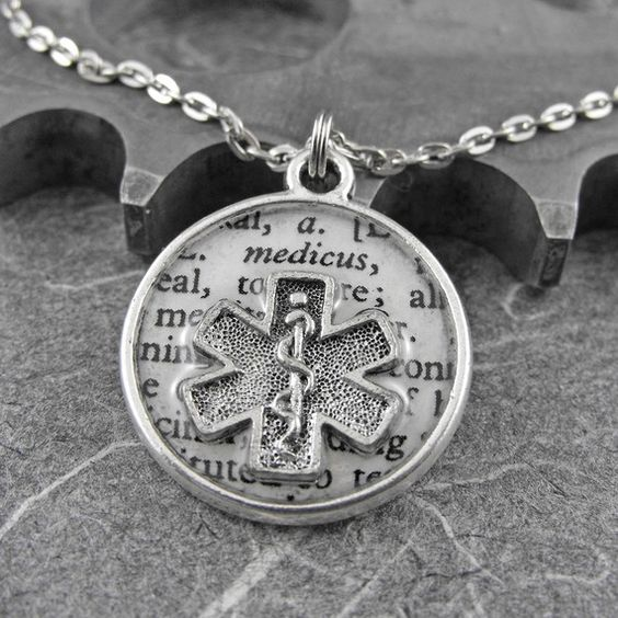 Paramedic Medical Definition Necklace  by COGnitiveCreations, $45.00