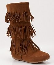 3 Layered Fringe Boots w/ Zipper The Creek Indian in me wants these boots!
