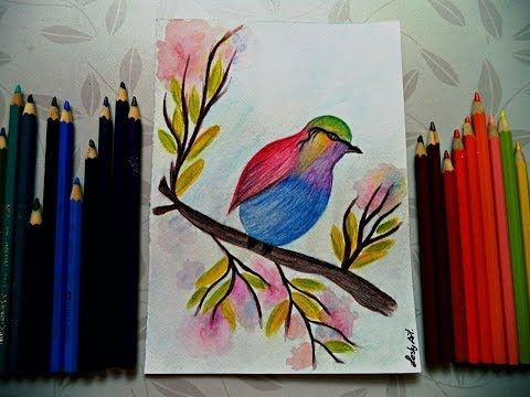 Aprende A Pintar Con Lapices Acuarelables Lesly Art Youtube Lapices De Acuarela Aprender A Pintar Lapices