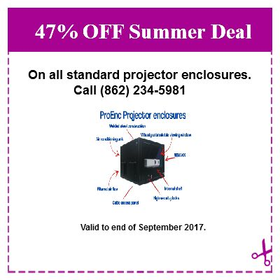 approved outdoor projector enclosures