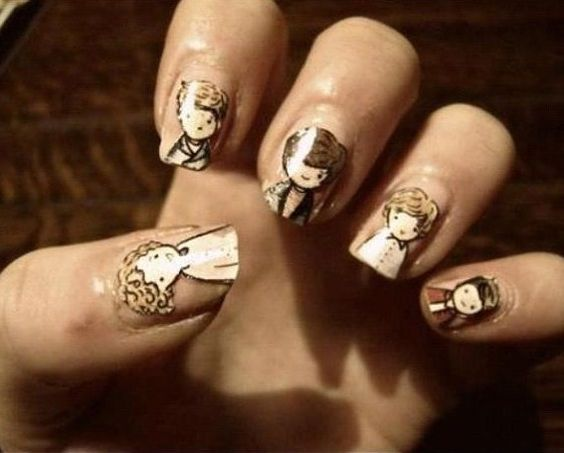 One Direction nail art!
