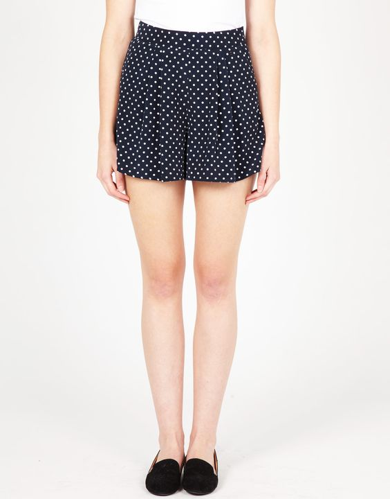Spotted High Waist Shorts