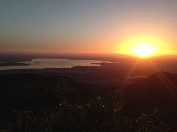 Der frühe Vogel fängt den Wurm #Berge #Sonnenaufgang #Kampenwand #Bayern