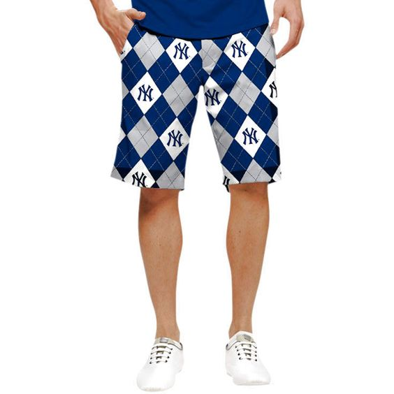 New York Yankees Loudmouth Shorts - Gray - $79.99
