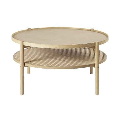 Round Coffee Table With Two Surfaces Maisons Du Monde Table Basse Ronde Table Basse Table Basse Double Plateau