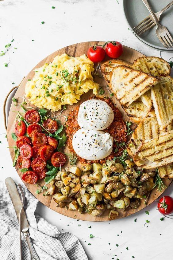 Burrata Breakfast Board Di 2020 Makanan Resep Makanan Pembuka Resep Makanan