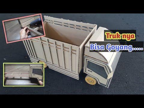 Cara Membuat Miniatur Truk Oleng Dari Kardus Youtube Kardus Truk Miniatur