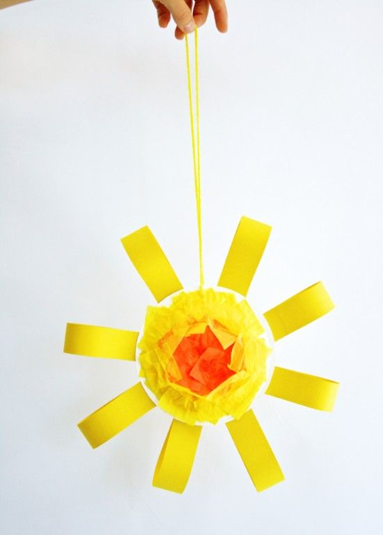 Cute Sun art craft for preschooler for the celebration of Fatima miracle