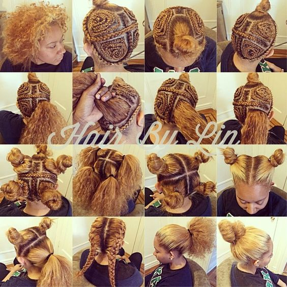 I would do this with crochet braids