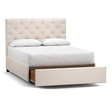 Lorraine Upholstered Low Headboard With Footboard Storage Platform