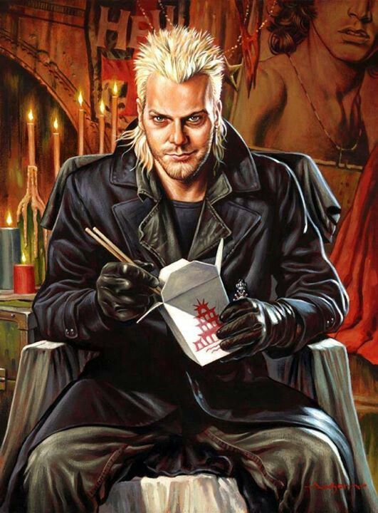 """David (Kiefer Sutherland) from """"The Lost Boys"""" (1987)."""