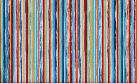 Makower UK Space, Multi Stripe Fabric - By the Yard. $7.99, via Etsy.