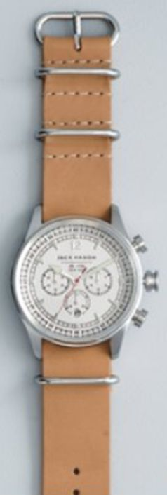 Jason Mason Brand chronograph leather strap watch