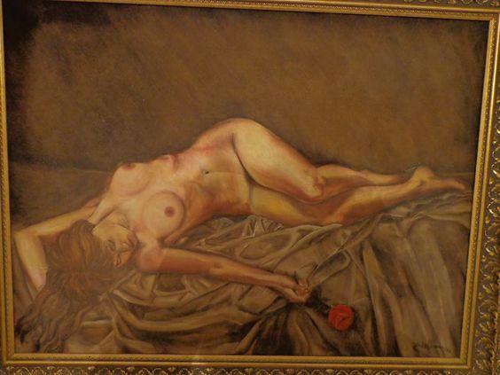 De Isabelle Nogueira -  A mulher e a rosa - Óleo s/ tela ( 2000)