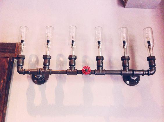 Awesome plumbing light fixture. Awe.some.