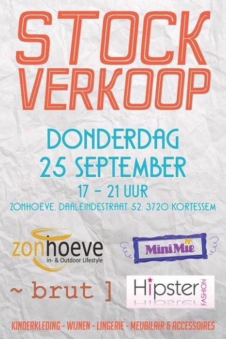 Stockverkoop Zonhoeve, MiniMie, Brut, Hipster Fashion, Punto-tre -- Kortessem -- 25/09