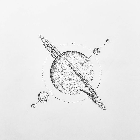 planet saturn drawing - photo #34
