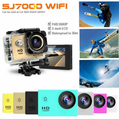 Details About Sports Camera Hd 1080p 2 0 Lcd 30m Waterproof 170 Action Camcorder Helmetcam Uk