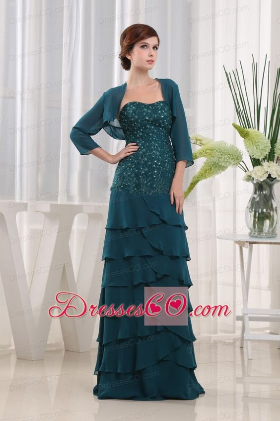 mother of bride Peacock Dress - mother of the bride dresses ...