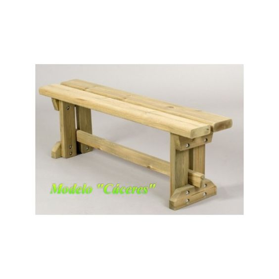 Referencia debe ser mas rustico banco de madera para for Banco de madera para jardin