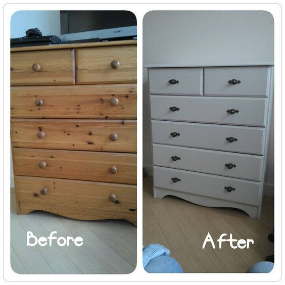 Inspiration if I can't find the right colour of dresser I want - easy paint and reno if needed!