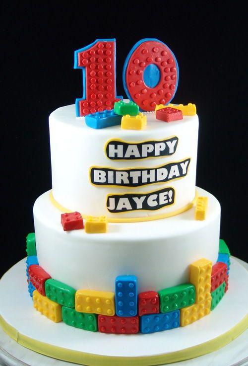 Phenomenal Lego Themed Birthday Cake For Kids With Images Birthday Cake Funny Birthday Cards Online Fluifree Goldxyz