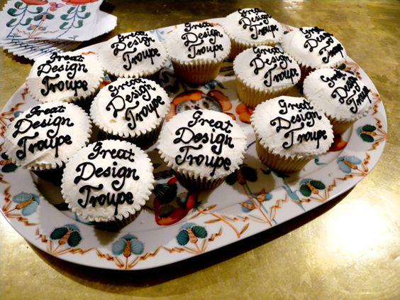Hummingbird chocolate and vanilla custom cupcakes@Apartment58