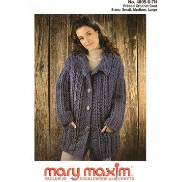 Crochet coat, Coat patterns and Pattern books on Pinterest