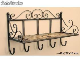 Perchero de pared forja bedroom pinterest hierro for Ganchos metalicos para percheros