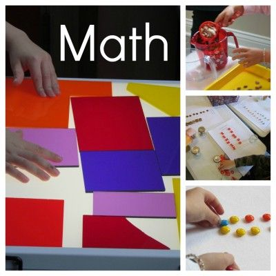 Math in the early childhood classroom...