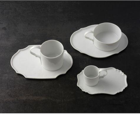 Paola Navone's white Taste Dinnerware line for German porcelain manufacturer Reichenbach