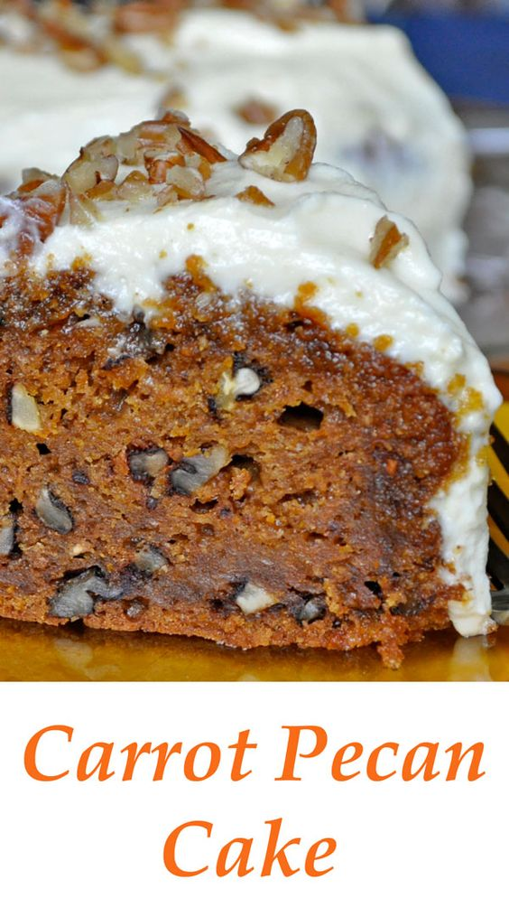 Carrot Pecan Cake with Cream Cheese Frosting | To be, Cream cheeses ...