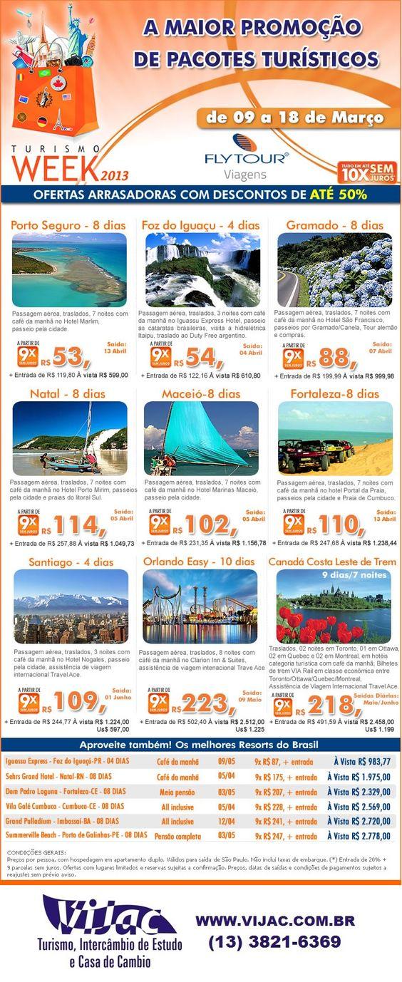 A maior promoção de pacotes turisticos