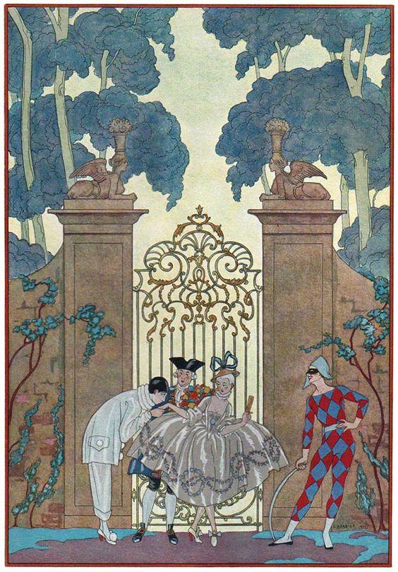 Georges Barbier (1882-1932) — 'Les Fêtes Galantes' by Paul Verlaine, 1920  (657×944):