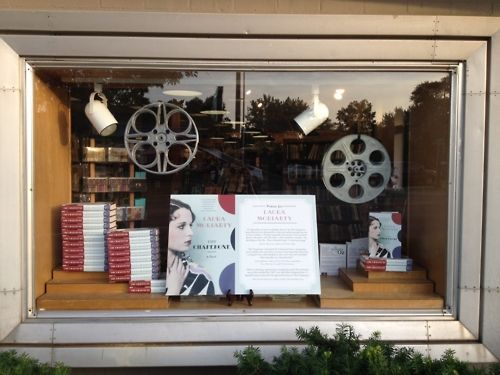 Watermark's front-window display for THE CHAPERONE.