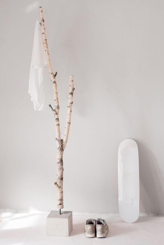 B ume h nde and minimalistische garderobe on pinterest for Garderobe birke