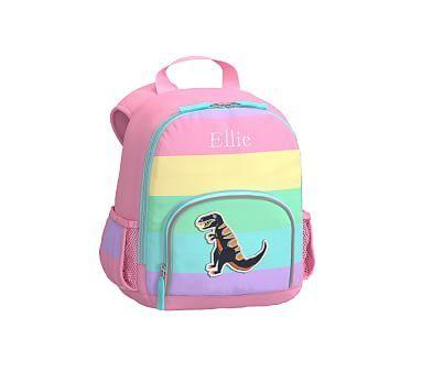 Pre-K Backpack, Fairfax Pink Multi Stripe, T-Rex