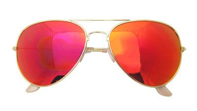 Orange Gold and Pink Flash Mirrored Aviator Sunglasses | $10.99 at RetroCitySunglasses.com