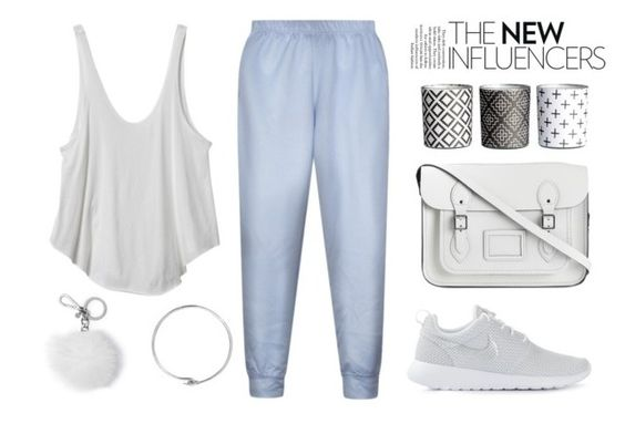 """""""Untitled #703"""" by maitelarrea ❤ liked on Polyvore featuring RVCA, The Cambridge Satchel Company, Acne Studios, H&M, NIKE and MICHAEL Michael Kors"""