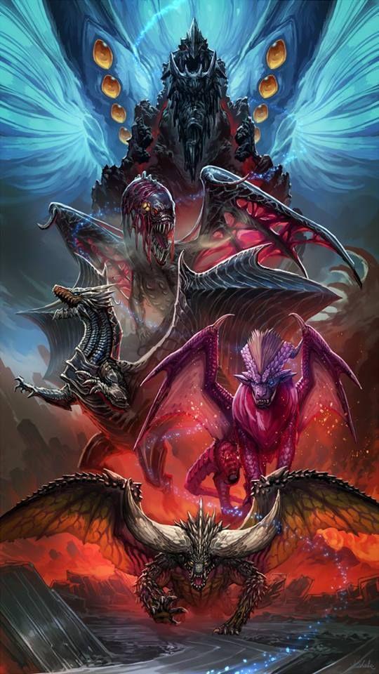 Mhw Elder Crossing Monster Hunter Art Monster Hunter World Wallpaper Monster Hunter Memes