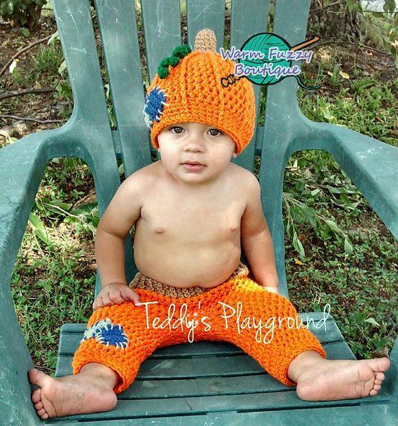 Ravelry: Pumpkin Patch Hat & Pants Set - 3 Sizes pattern by Sissy Johnson