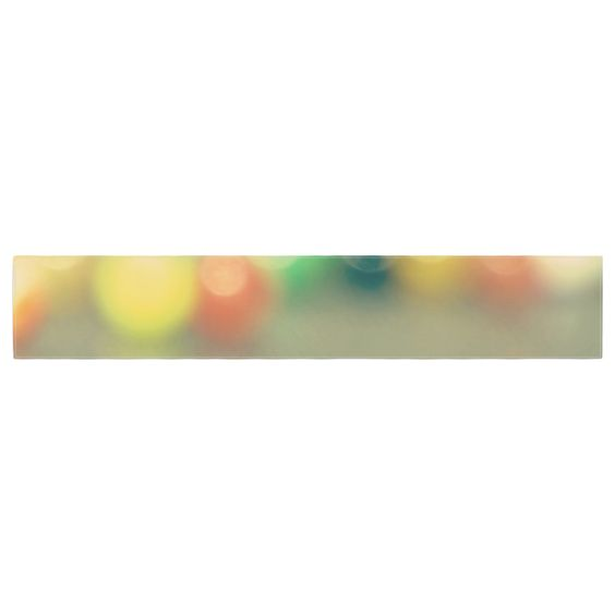"""Sylvia Coomes """"Marble Bokeh"""" Multicolor Abstract Table Runner"""